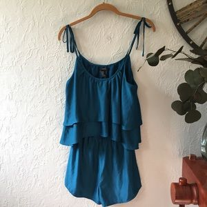 Forever 21 Turquoise Blue Romper Like NEW!